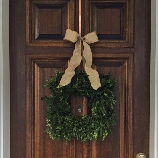 Boxwood door wreath