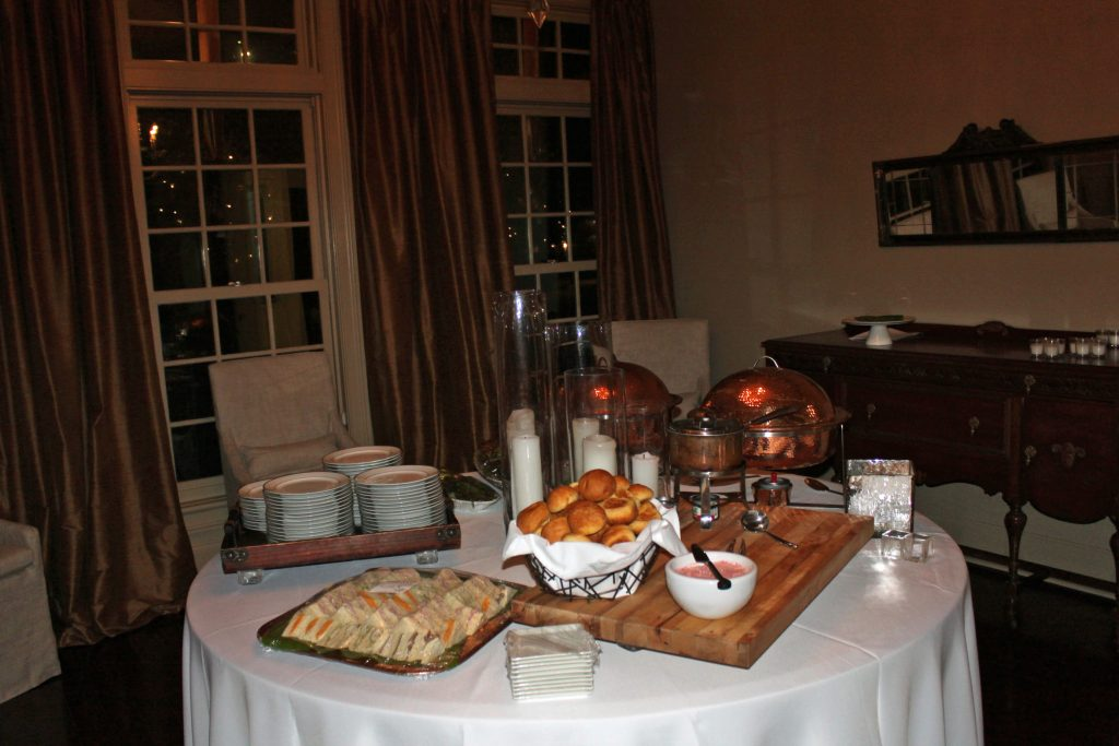 Housewarming Holiday Party Buffet Table