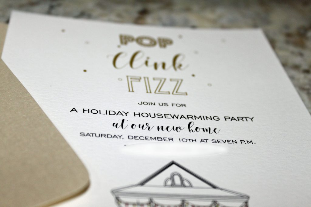 Housewarming Holiday Party Invitations - Pop-Clink-Fizz