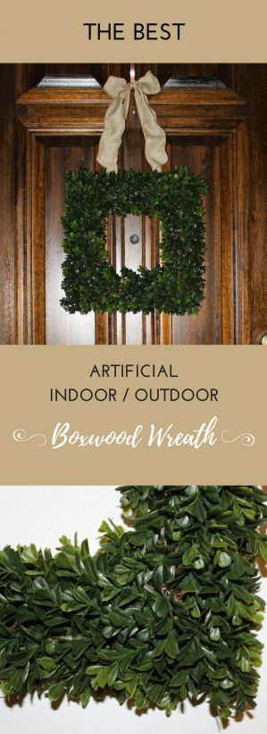 Square Boxwood Wreath