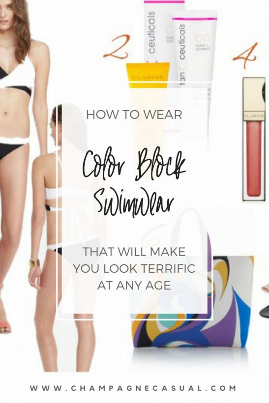 Color Block Swimsuit | Color Block Bathing Suit