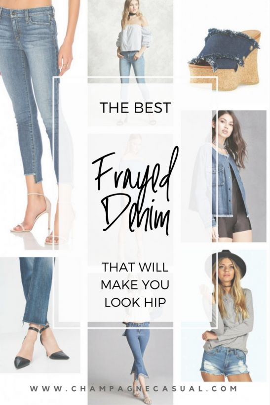 Frayed Denim | Frayed Hem Jeans