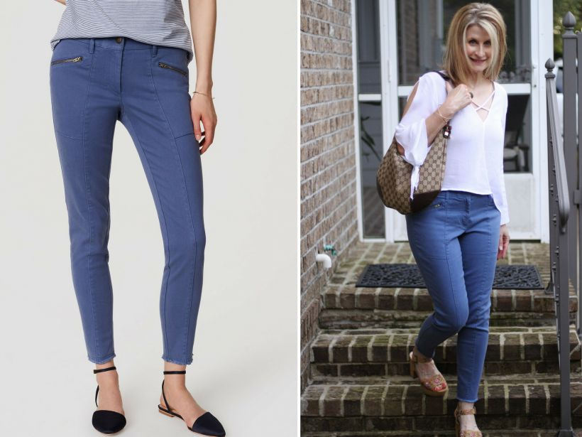Frayed Hem Jeans and Skinny Cargo Pants