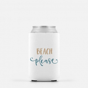 Beach Please Koozie