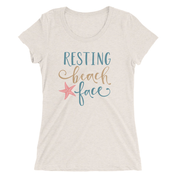Mom Gift Resting Beach Face Tee