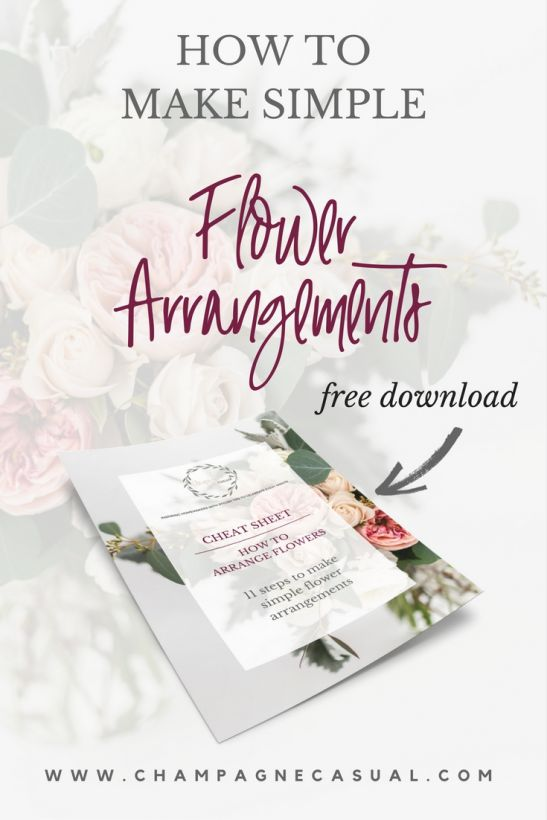 How to Make Simple Flower Arrangements Free Download